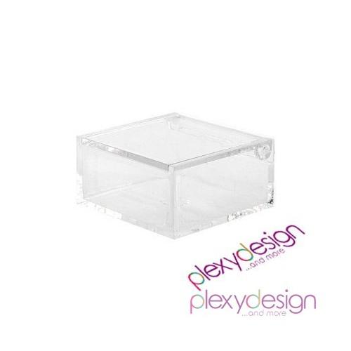 Scatolina in plexiglass trasparente 6x6x3