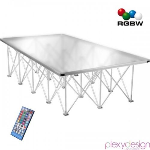Piano di Calpestio in plexiglass 2x1 Satinato RGBW con telecomando IR
