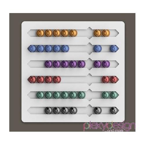 Porta capsule nespresso da muro plexy design - Nespresso porta cialde ...
