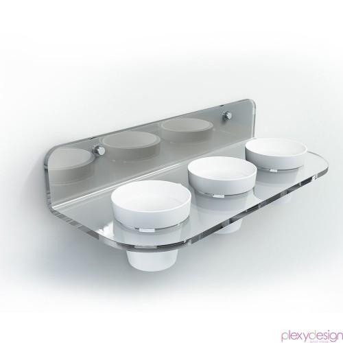 Mensola con 3 Vasetti