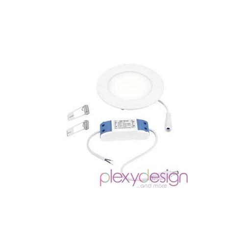 Pannello LED 6W - Rotondo - Foro Incasso Ø100mm