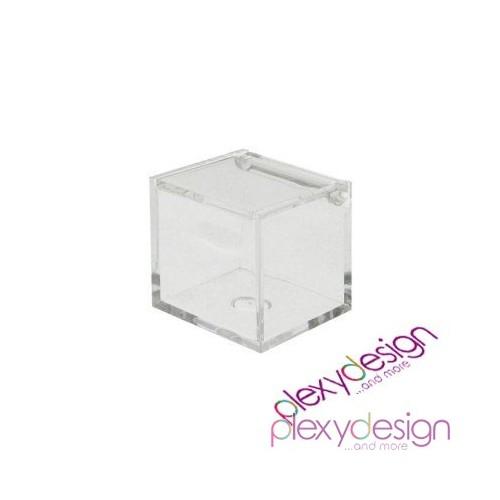 Scatolina in plexiglass trasparente 5x5x5