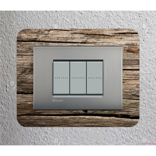 Proteggi muro personalizzato per interruttori 3 moduli RETROSTAMPATO UV