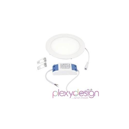 Pannello LED 12W - Rotondo - Foro Incasso Ø155mm